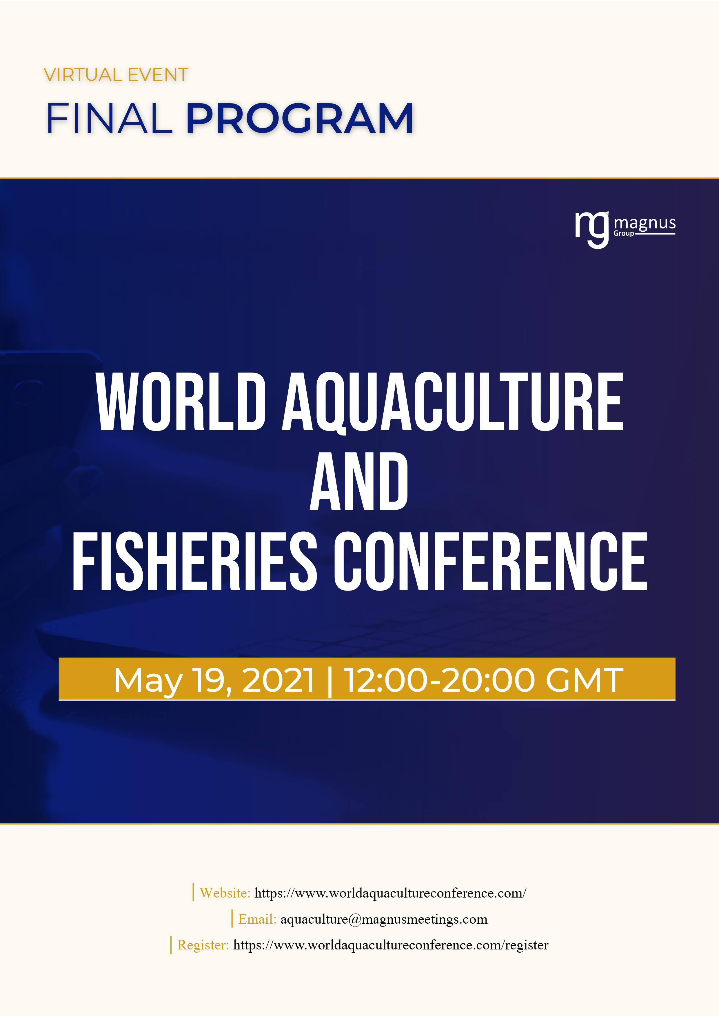 World Aquaculture and Fisheries Conference | Virtual Program